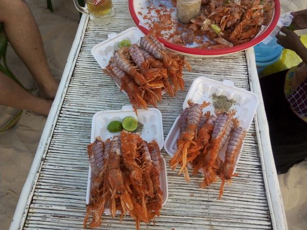 Пляжная еда в Камбодже