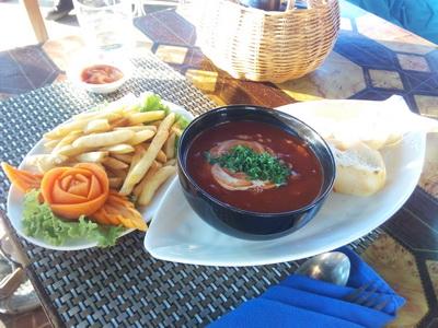 еда в сиануквиле в камбодже