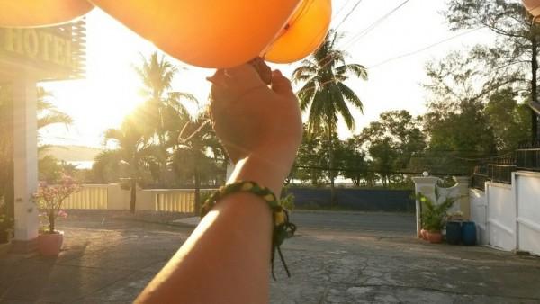Казатип в Камбодже шары