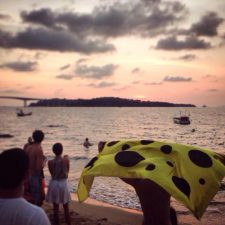 Последний день в Камбодже, закат