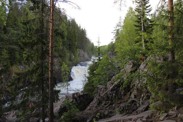 карелия водопад кивач лето 2015