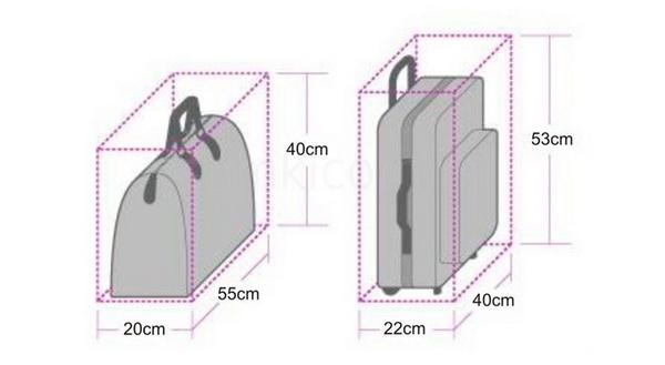 размер багажа 2015 год
