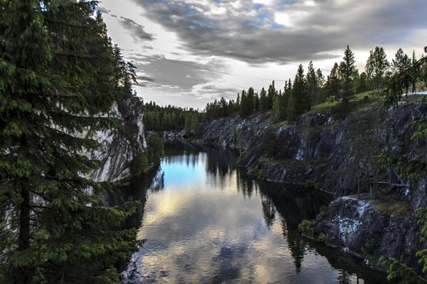 рускеала заповедник горный парк мраморный каньон