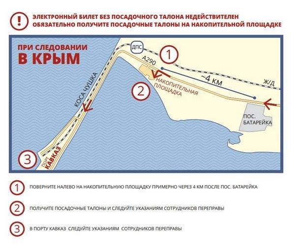 shema dvijeniya port kavkaz