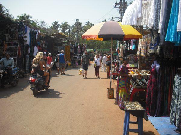 анджуна флимаркет блошиный рынок дневной в анджуне