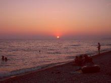Шепси фото заката на пляже