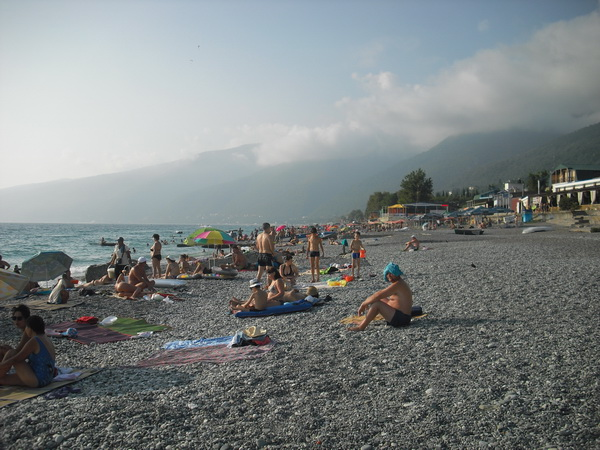 Абхазия Гагра пляж