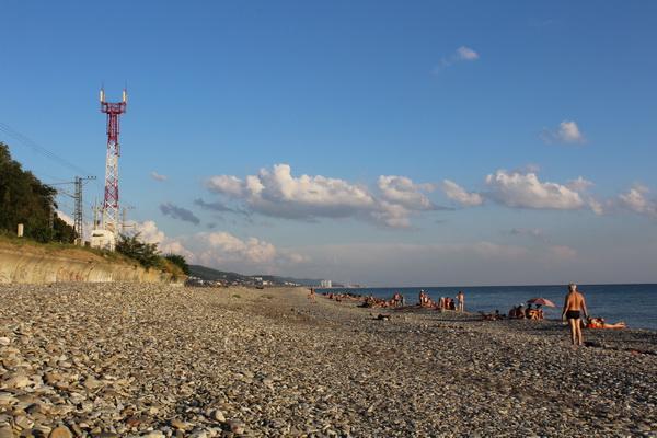 аше пляж галька черное море