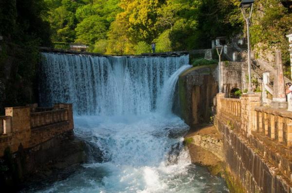 достопримечательности Абхазии 2017 новоафонский водопад