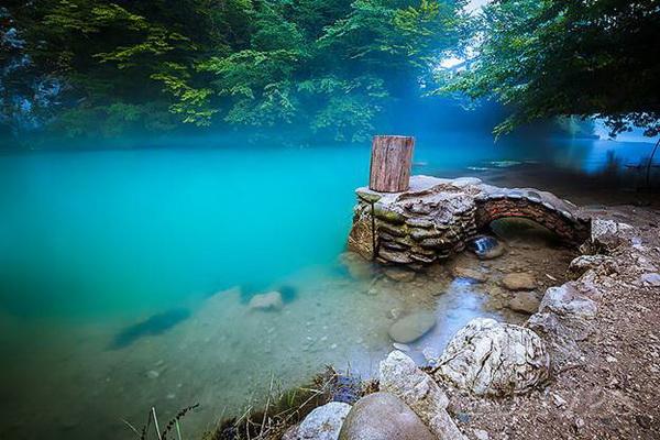 достопримечательности Абхазии 2017 голубое озеро