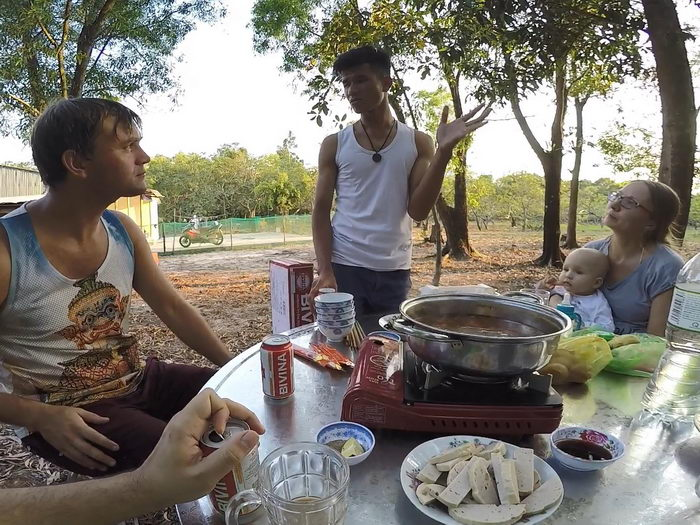 В гостях во Вьетнамской деревне