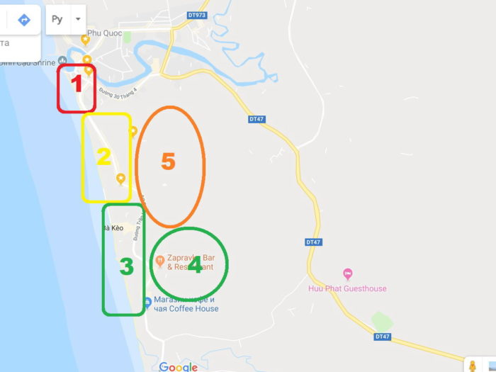 Карта лонг бич на Фукуоке