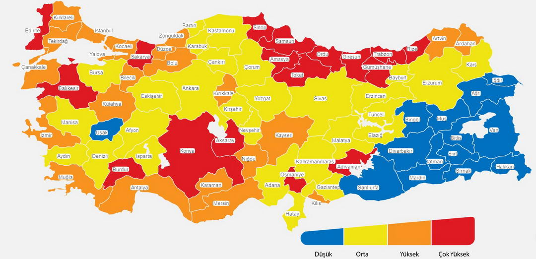 снятие ограничений в Турции 4 разделение по опасности по цвету новые правила с 02 марта 2021